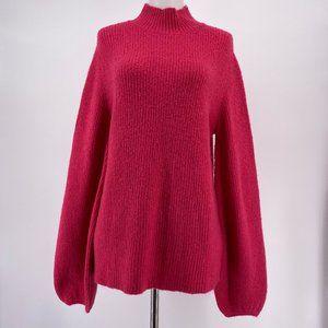New Rachel Rachel Roy Sweater Solid Pink Mock Neck